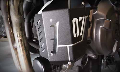 MT 07 radiator overflow tank upgrade cover
