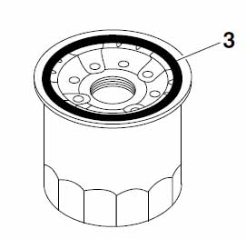 MT07 oil filter gasket