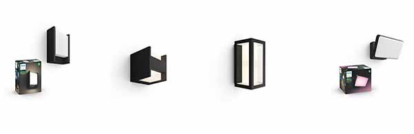 Philips Hue Outdoor White & Color Wall Lights black