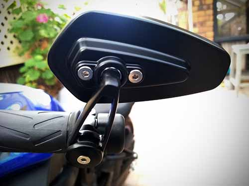 CNC glass metal bar end mirrors for 2018 MT07