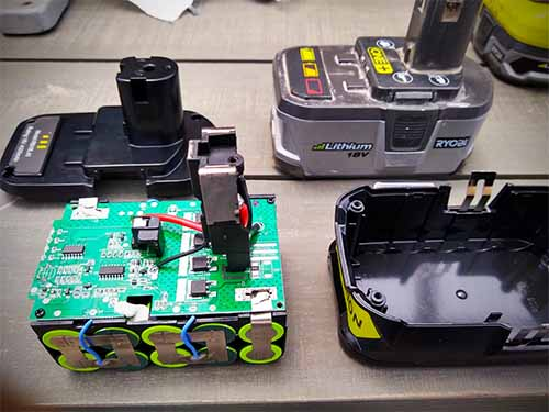 Removal of cheap Ryobi battery pack