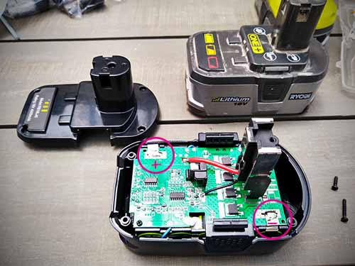 Inside a Ryobi Battery How to fix a dead One + battery