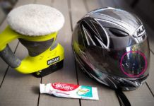 how to remove scratches from helmet visor