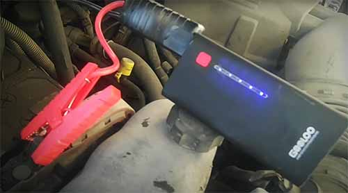 How to use a Lithium ion portable jump starter.