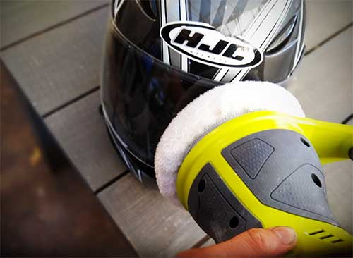 How to remove tint from helmet visor
