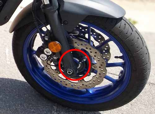 Yamaha MT07 ABS front wheel review