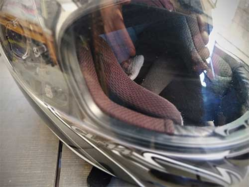 How to remove scratches from motorcycle helmet visor
