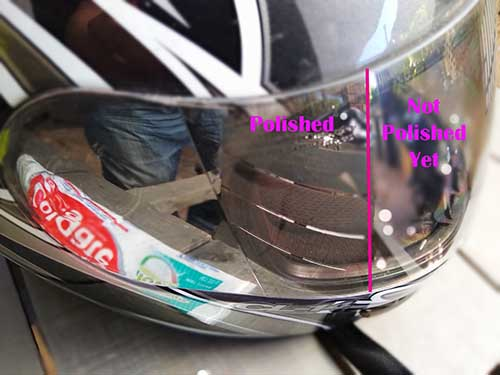 Can you use toothpaste on a helmet visor