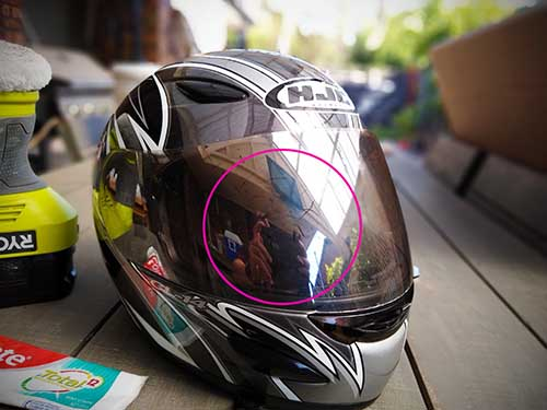 How to remove scratches from motorcycle helmet visor at home