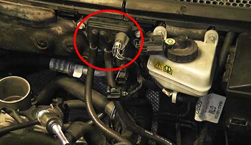 Ford Focus 2003 Check the Differential Pressure Feedback of EGR