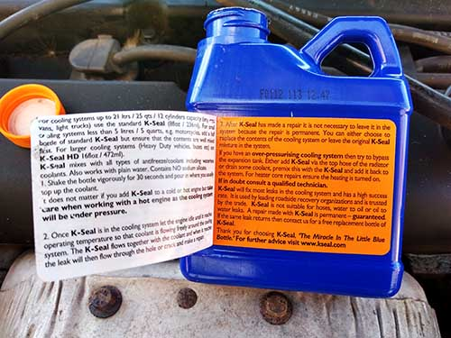 K-Seal Instructions How to fix coolant leaking from engine block