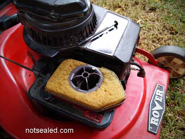 Making a foam air filter for your lawn mower DIY