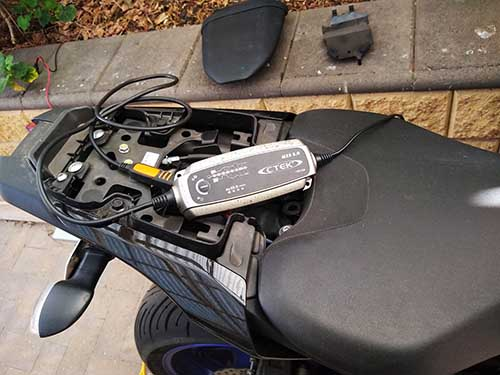How to revive a dead motorcycle battery