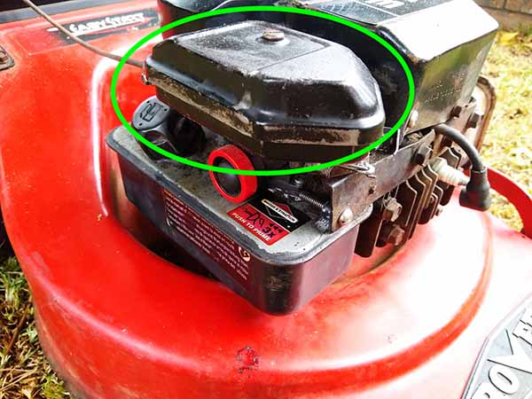 Lawnmower won't start after sitting for a while