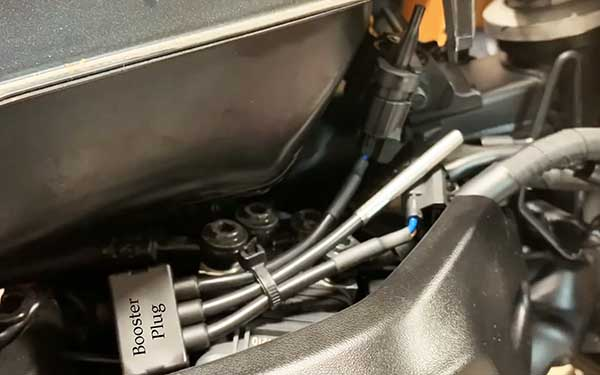 booster plug installed on an XSR700 2018