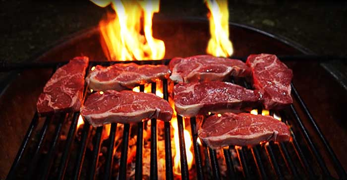 What can you cook in a fire pit grill?