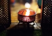 portable fire pit bowl use & care.