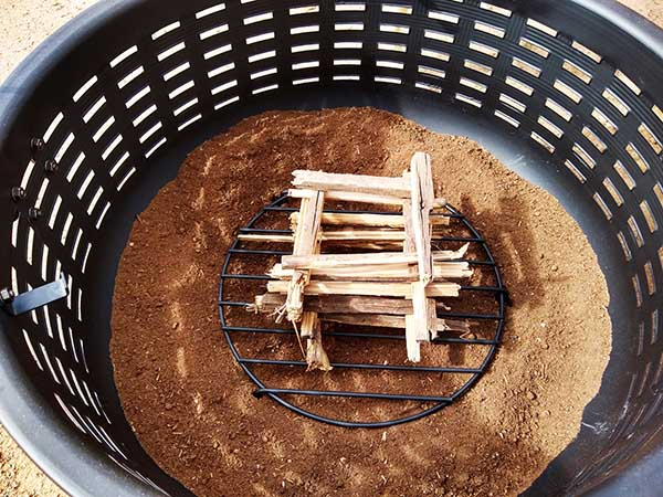 Setting up a fire pit