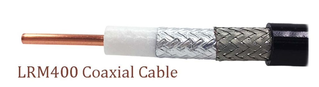 LMR400 coaxial cable cores and shields